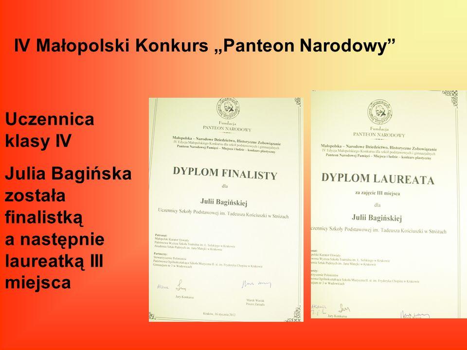 """IV Małopolski Konkurs """"Panteon Narodowy"""