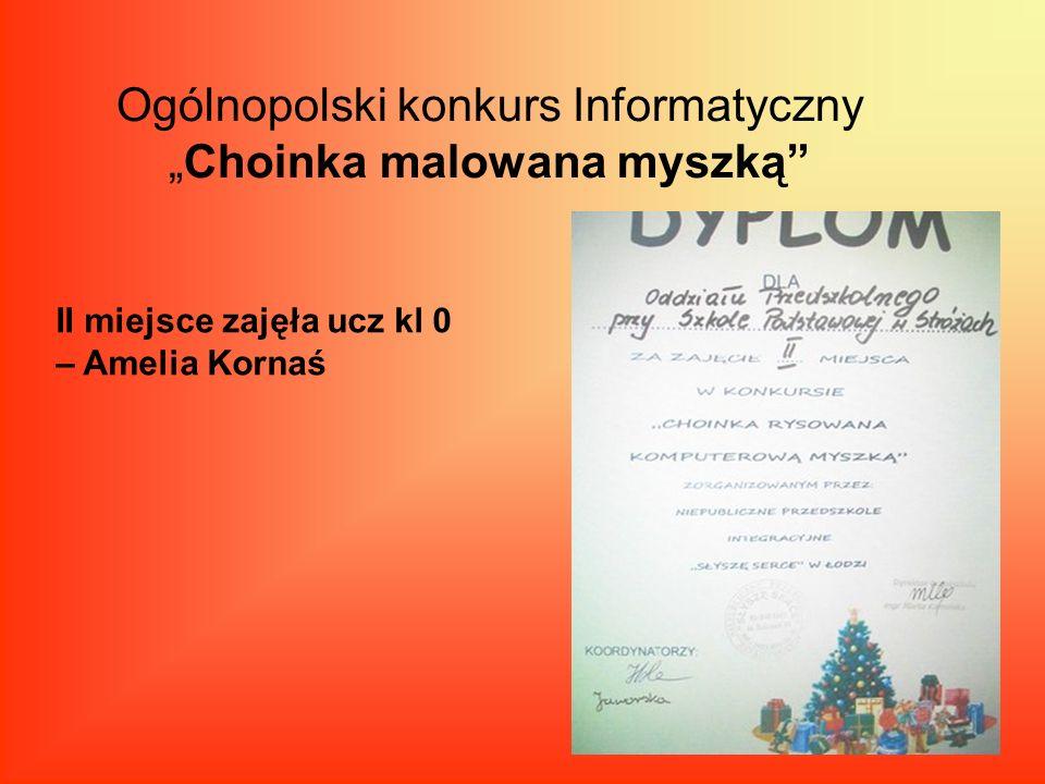 """Ogólnopolski konkurs Informatyczny """"Choinka malowana myszką"""