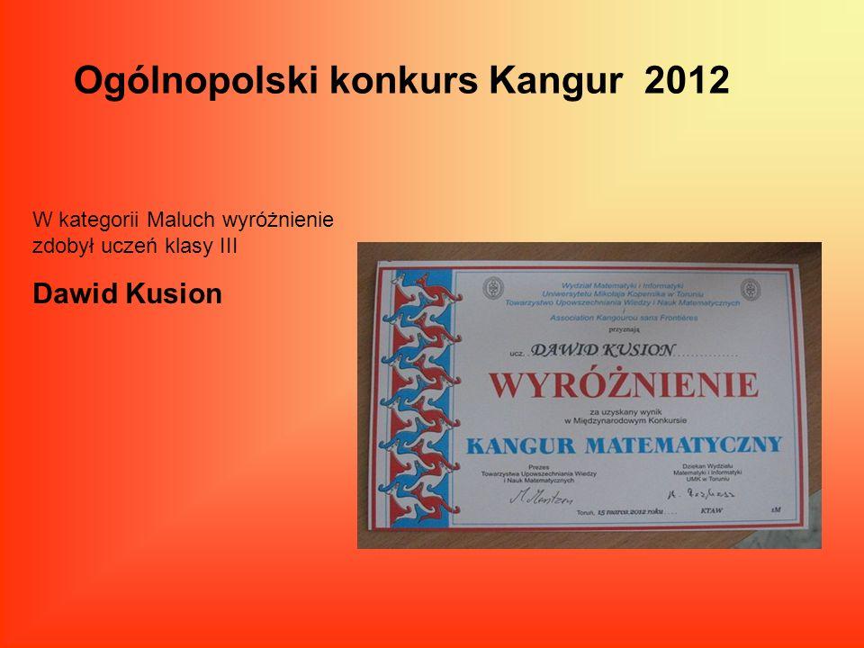 Ogólnopolski konkurs Kangur 2012