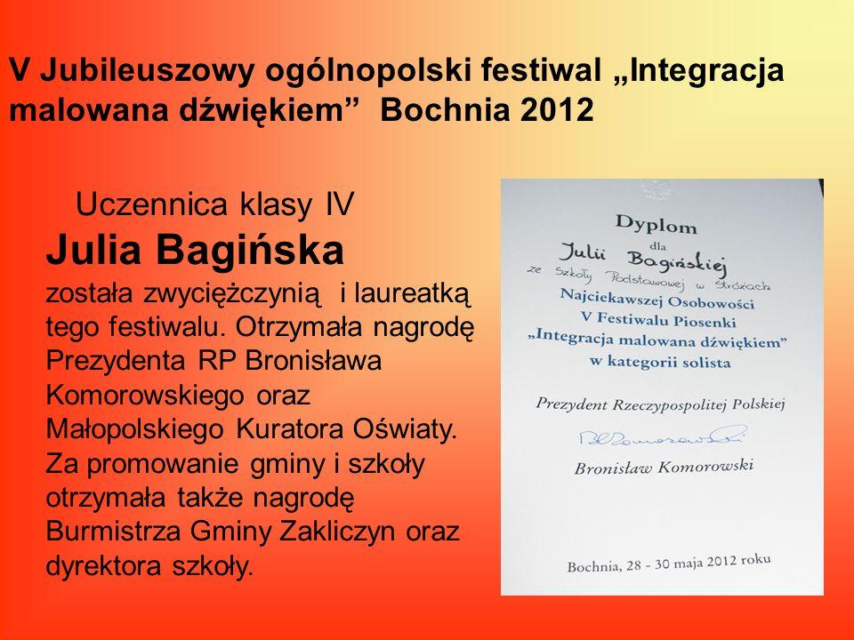 """V Jubileuszowy ogólnopolski festiwal """"Integracja malowana dźwiękiem Bochnia 2012"""