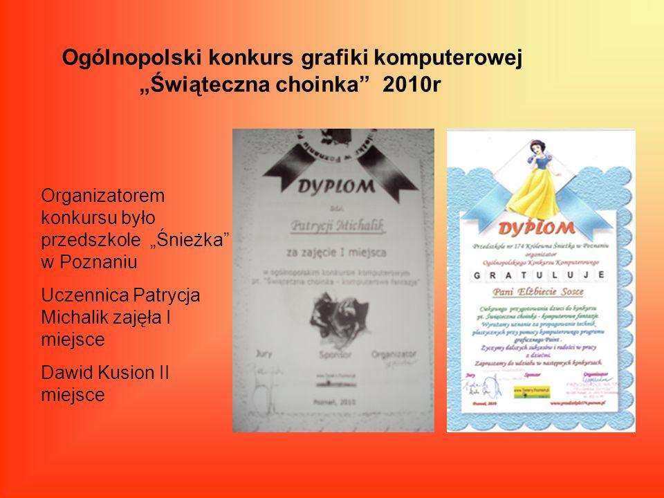 """Ogólnopolski konkurs grafiki komputerowej """"Świąteczna choinka 2010r"""