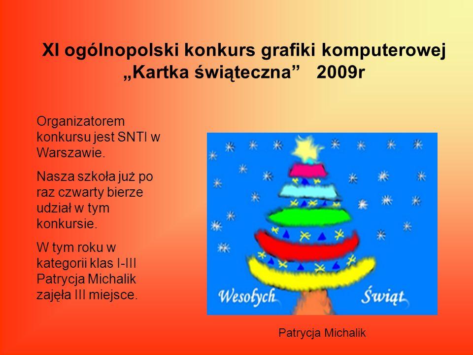 """XI ogólnopolski konkurs grafiki komputerowej """"Kartka świąteczna 2009r"""