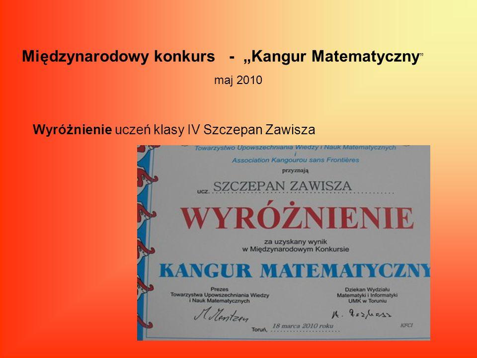 """Międzynarodowy konkurs - """"Kangur Matematyczny"""