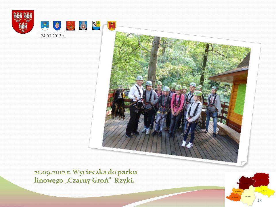 """21.09.2012 r. Wycieczka do parku linowego """"Czarny Groń Rzyki."""