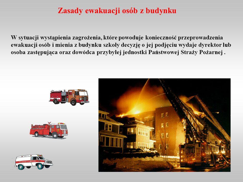 Zasady ewakuacji osób z budynku
