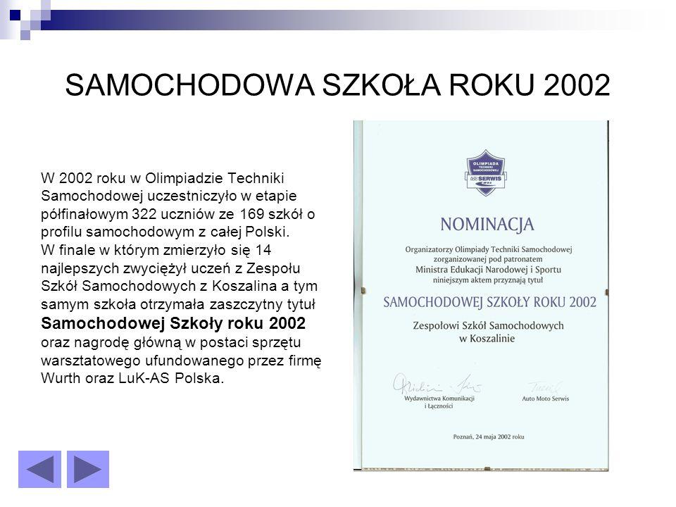 SAMOCHODOWA SZKOŁA ROKU 2002