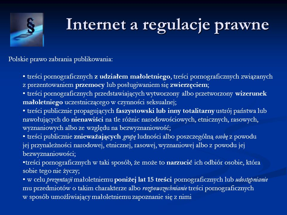Internet a regulacje prawne