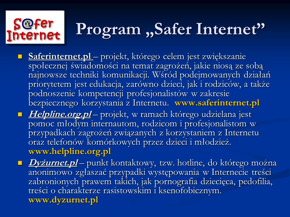 "Program ""Safer Internet"