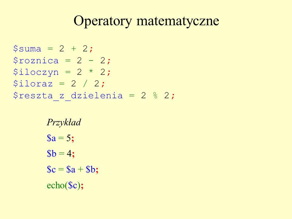 Operatory matematyczne