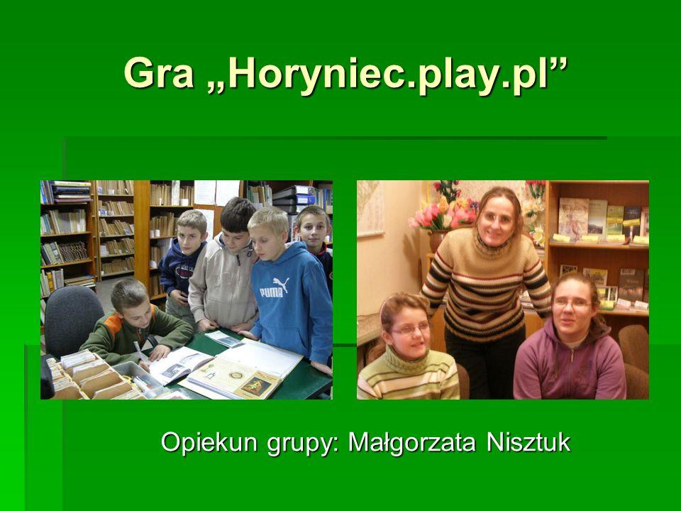 Opiekun grupy: Małgorzata Nisztuk