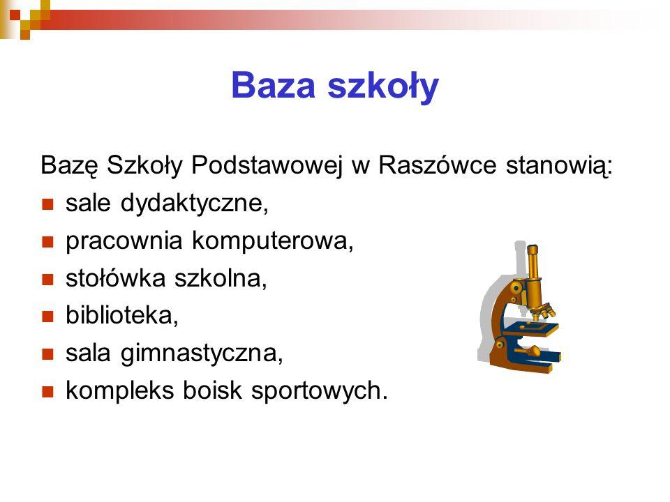 Baza szkoły Bazę Szkoły Podstawowej w Raszówce stanowią: