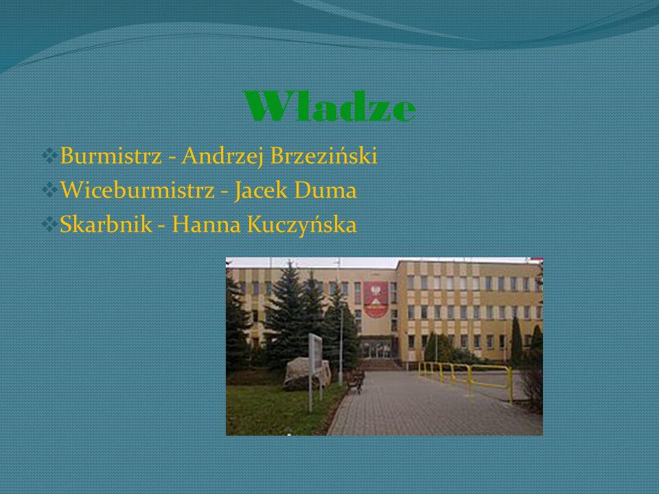 Władze Burmistrz - Andrzej Brzeziński Wiceburmistrz - Jacek Duma