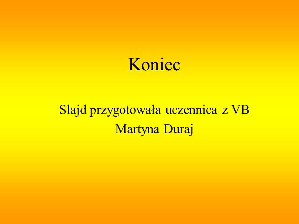 Slajd przygotowała uczennica z VB Martyna Duraj