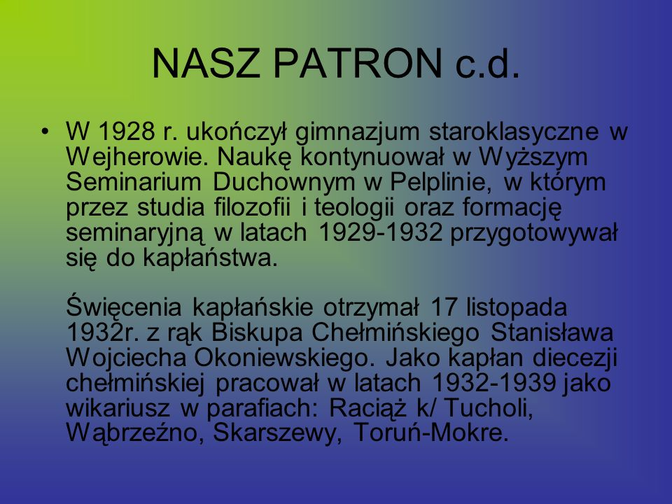 NASZ PATRON c.d.