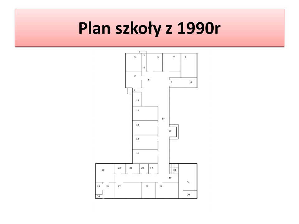 Plan szkoły z 1990r