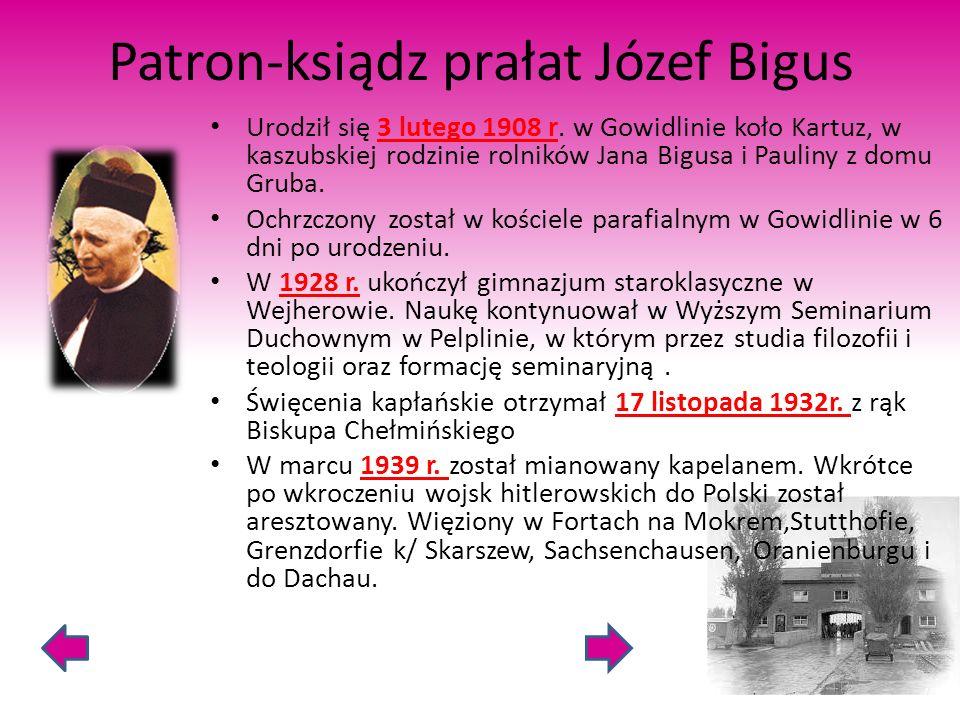 Patron-ksiądz prałat Józef Bigus