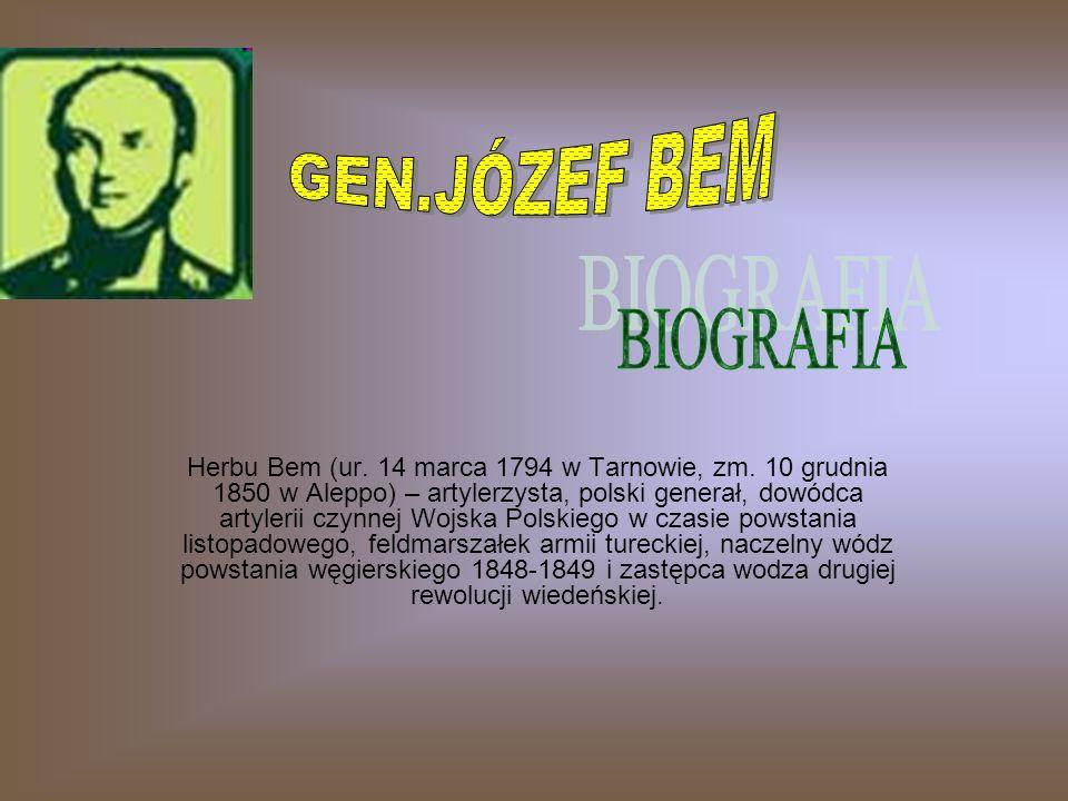 GEN.JÓZEF BEM BIOGRAFIA