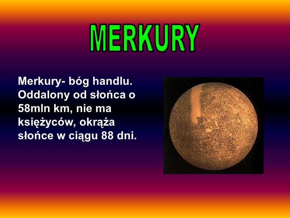 MERKURY Merkury- bóg handlu.