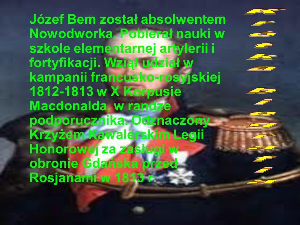 Józef Bem został absolwentem Nowodworka
