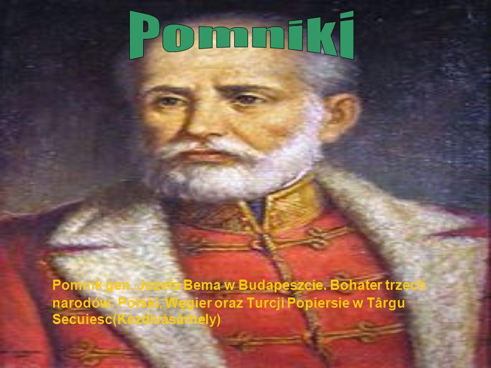 Pomniki Pomnik gen. Józefa Bema w Budapeszcie.