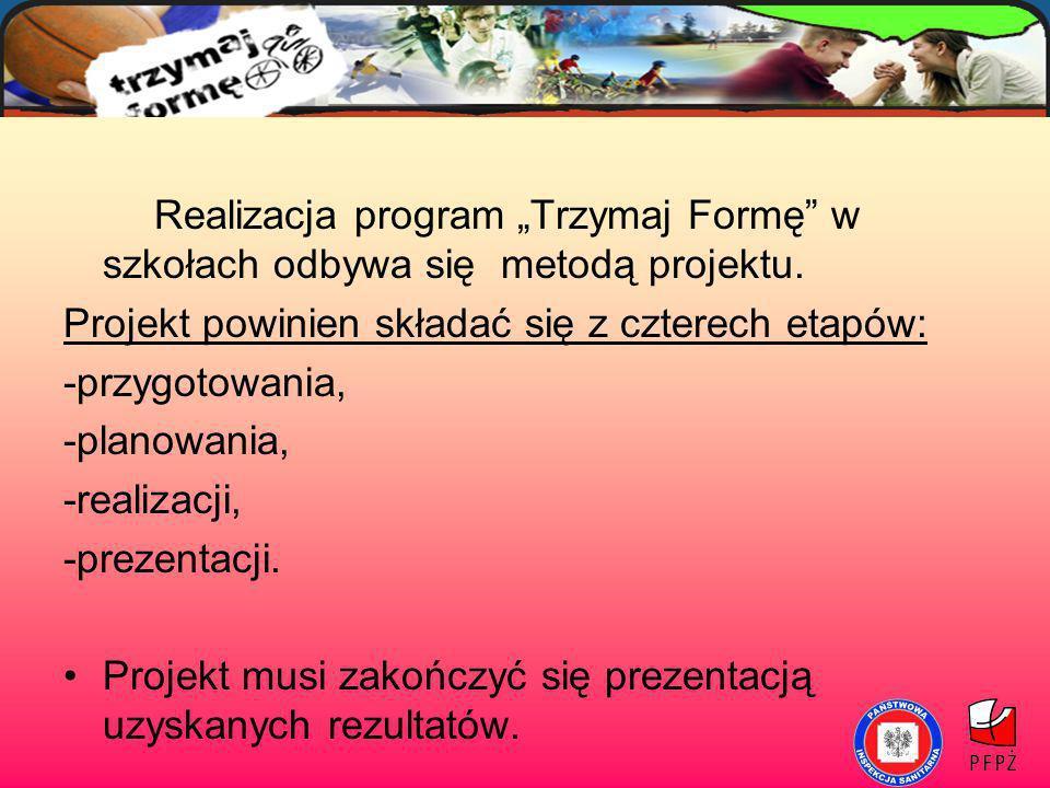 """Realizacja program """"Trzymaj Formę w szkołach odbywa się metodą projektu."""