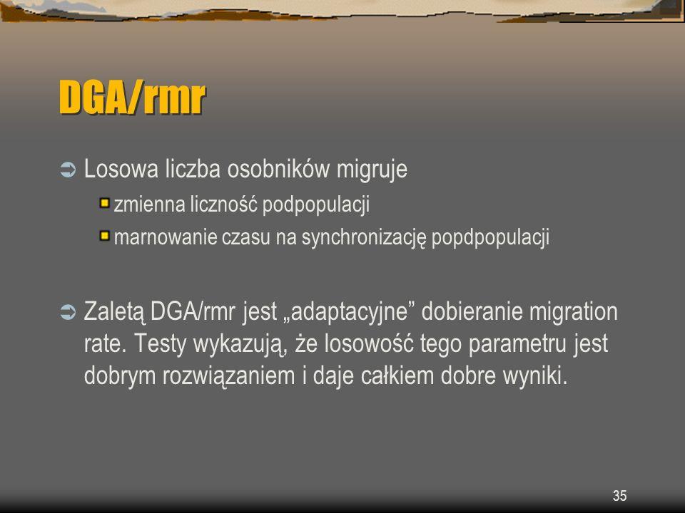 DGA/rmr Losowa liczba osobników migruje