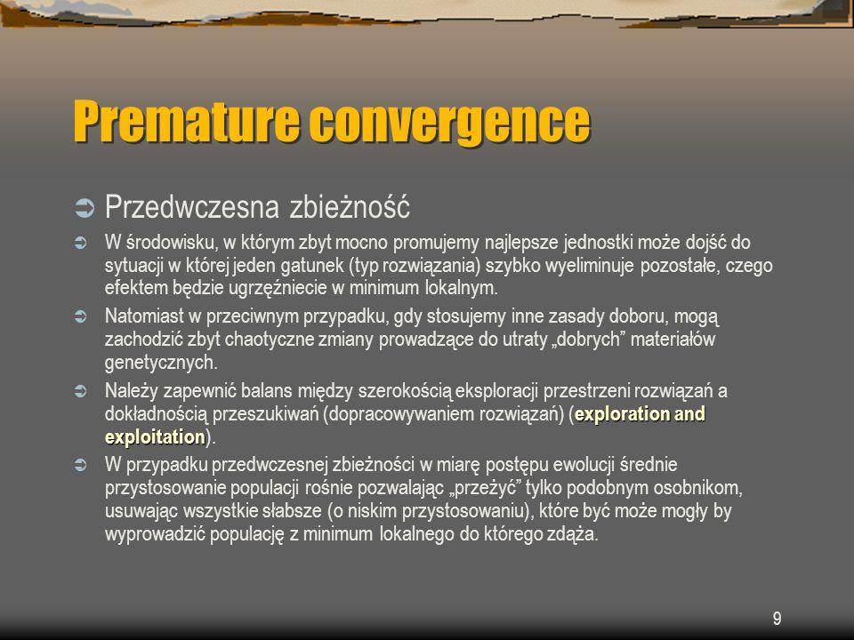 Premature convergence