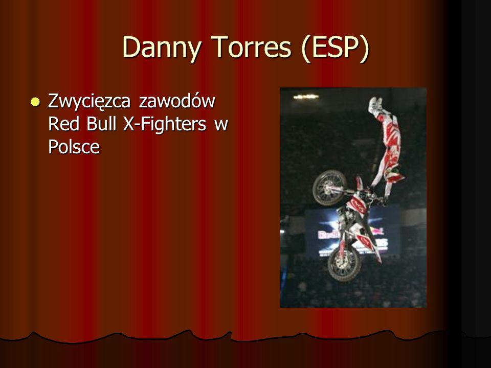 Danny Torres (ESP) Zwycięzca zawodów Red Bull X-Fighters w Polsce