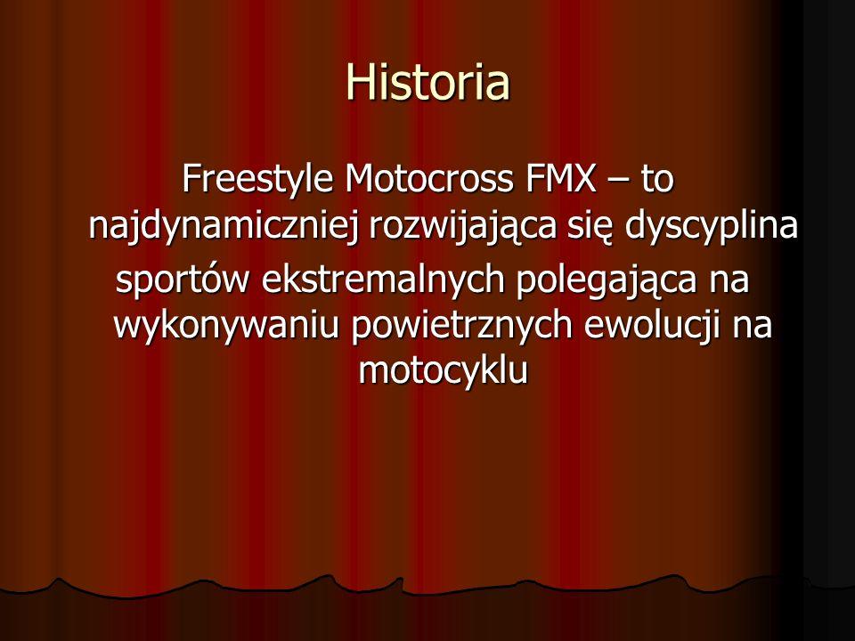 Historia Freestyle Motocross FMX – to najdynamiczniej rozwijająca się dyscyplina.