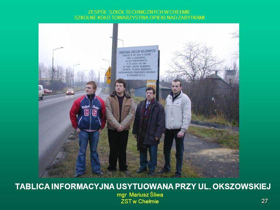 mgr Mariusz Śliwa ZST w Chełmie