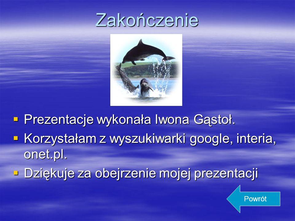 Zakończenie Prezentacje wykonała Iwona Gąstoł.