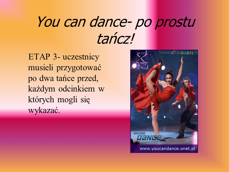 You can dance- po prostu tańcz!