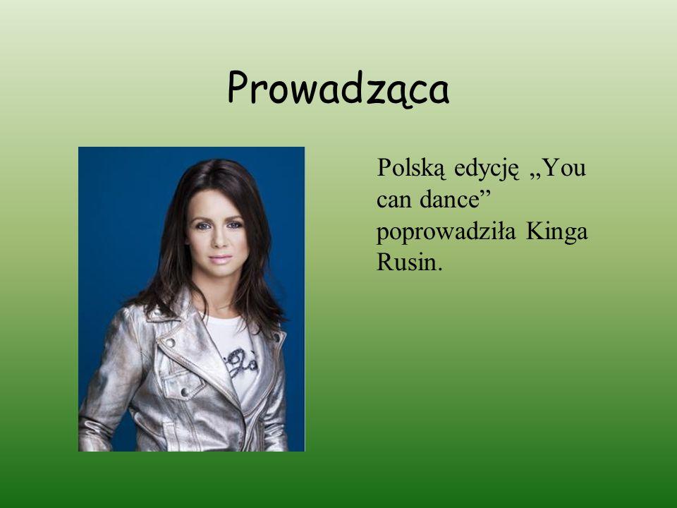 """Prowadząca Polską edycję """"You can dance poprowadziła Kinga Rusin."""