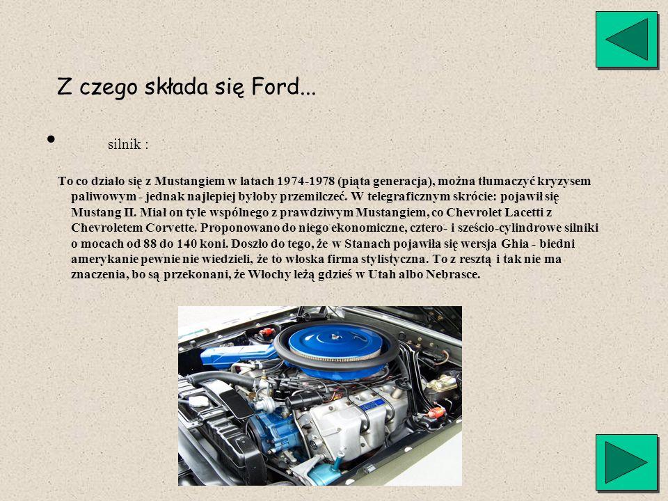 silnik : Z czego składa się Ford...