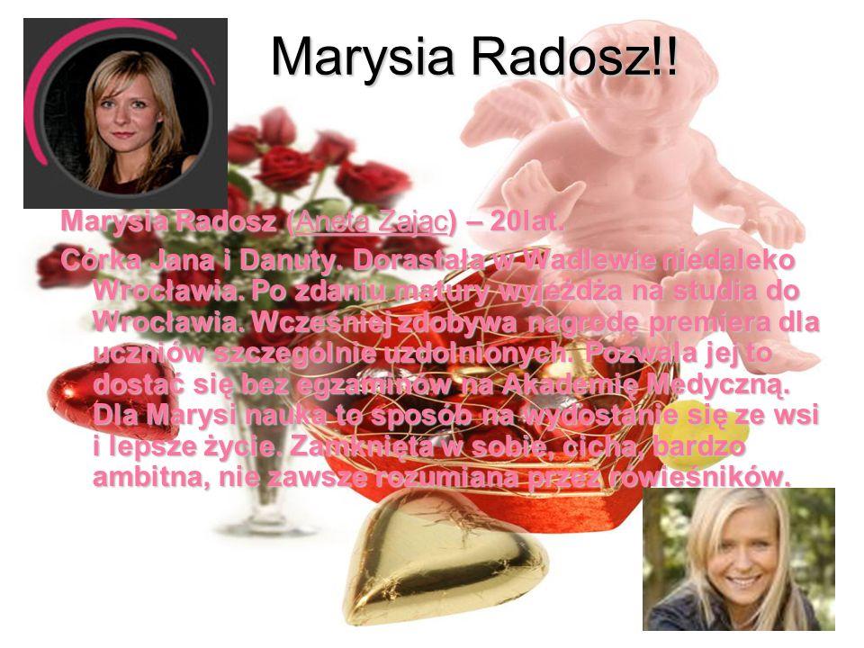 Marysia Radosz!! Marysia Radosz (Aneta Zając) – 20lat.