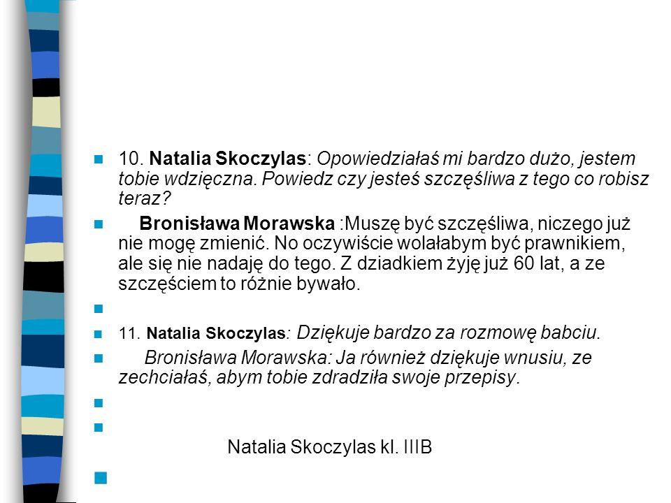 Natalia Skoczylas kl. IIIB