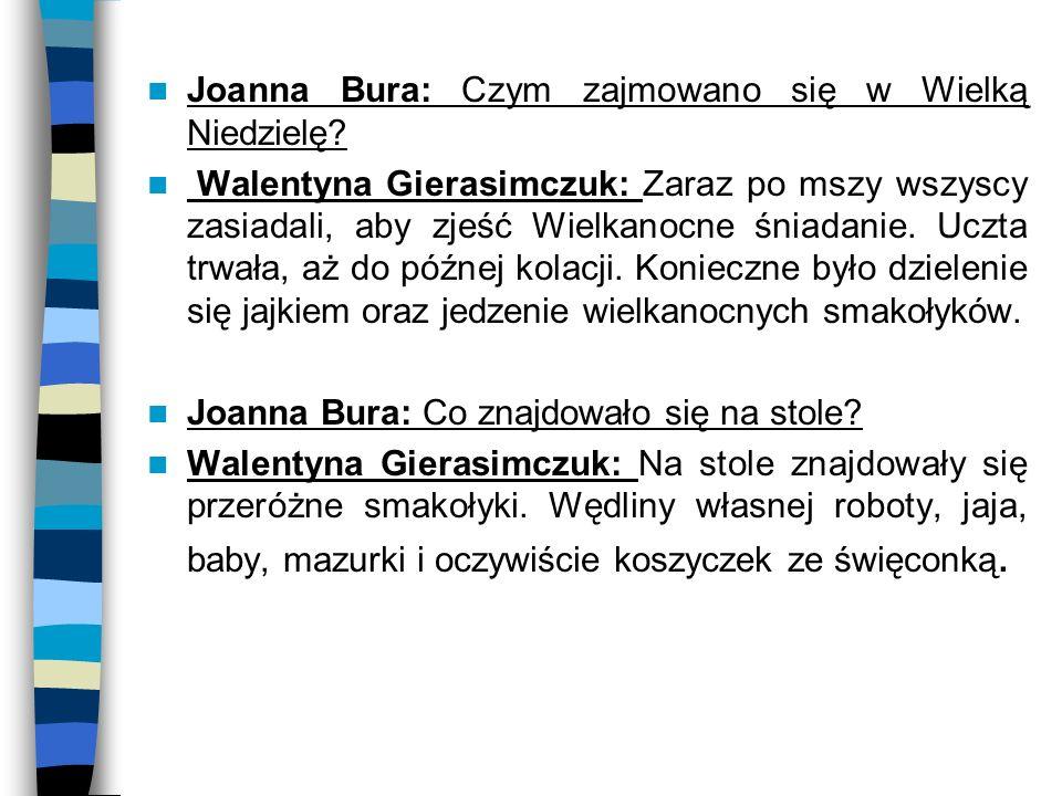 Joanna Bura: Czym zajmowano się w Wielką Niedzielę