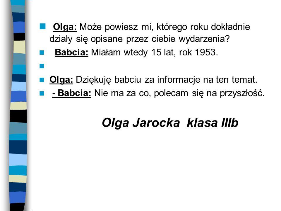 Olga Jarocka klasa IIIb