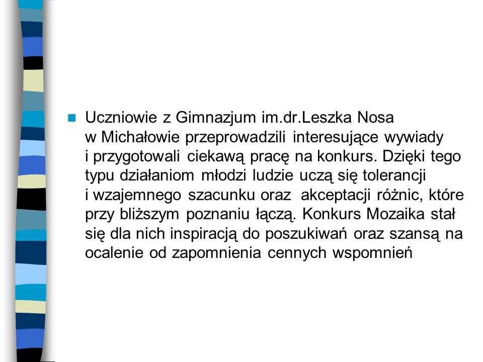 Uczniowie z Gimnazjum im. dr
