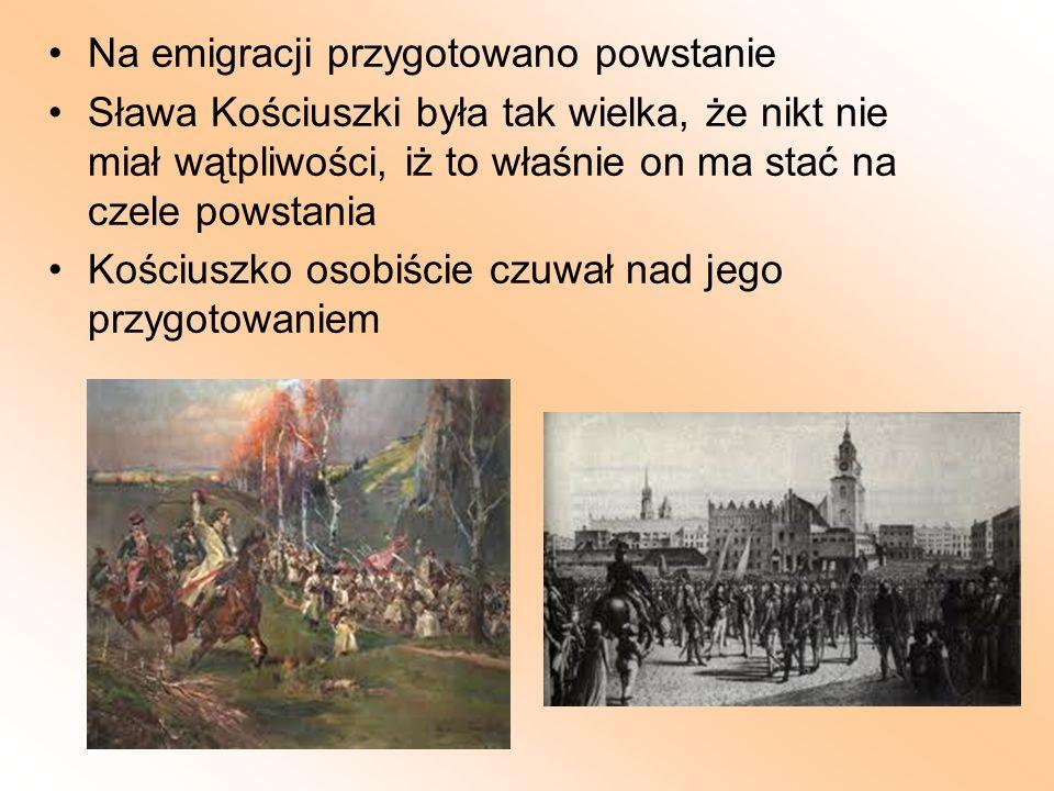 Na emigracji przygotowano powstanie