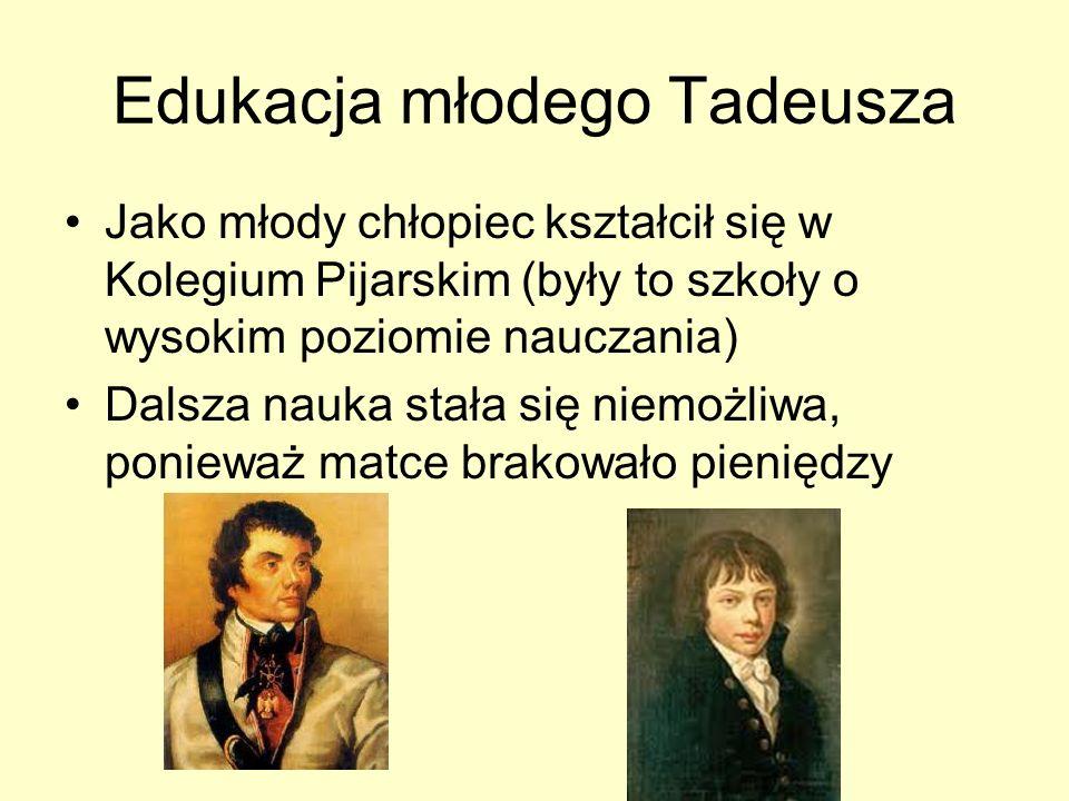 Edukacja młodego Tadeusza