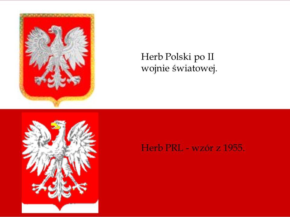Herb Polski po II wojnie światowej.