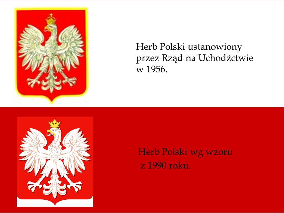 Herb Polski ustanowiony przez Rząd na Uchodźctwie w 1956.