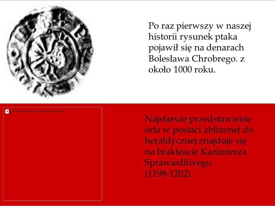 Po raz pierwszy w naszej historii rysunek ptaka pojawił się na denarach Bolesława Chrobrego. z około 1000 roku.