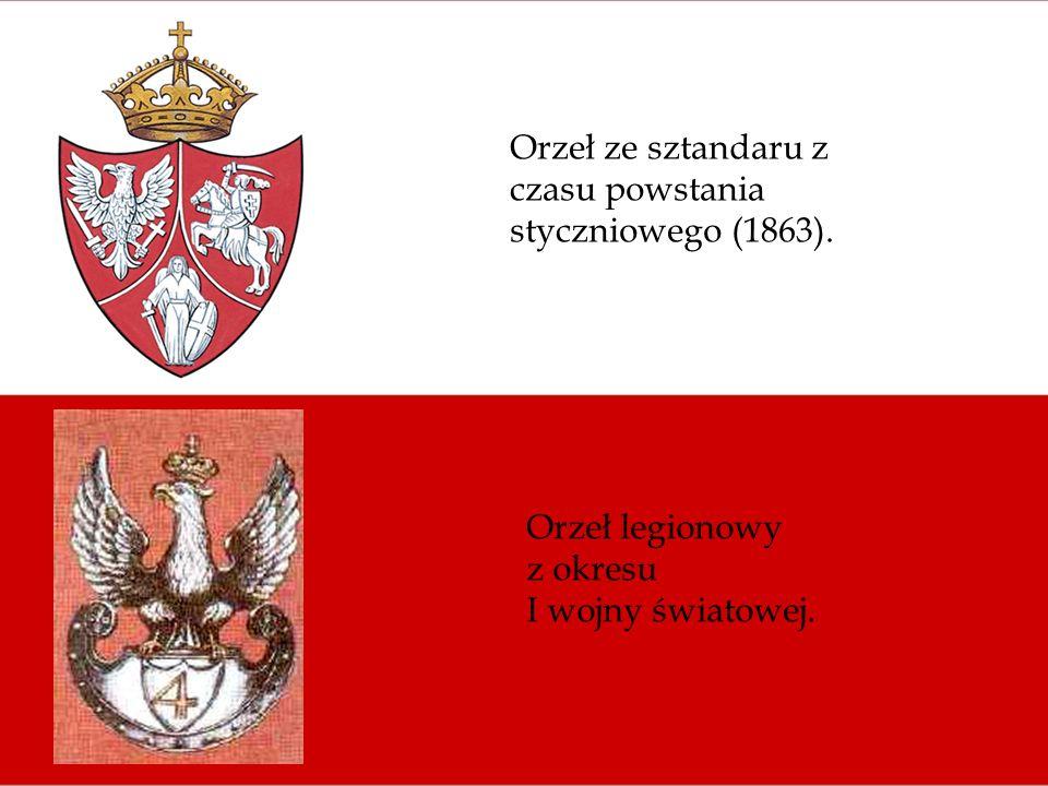Orzeł ze sztandaru z czasu powstania styczniowego (1863).