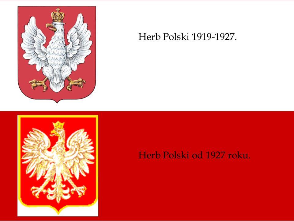Herb Polski 1919-1927. Herb Polski od 1927 roku.