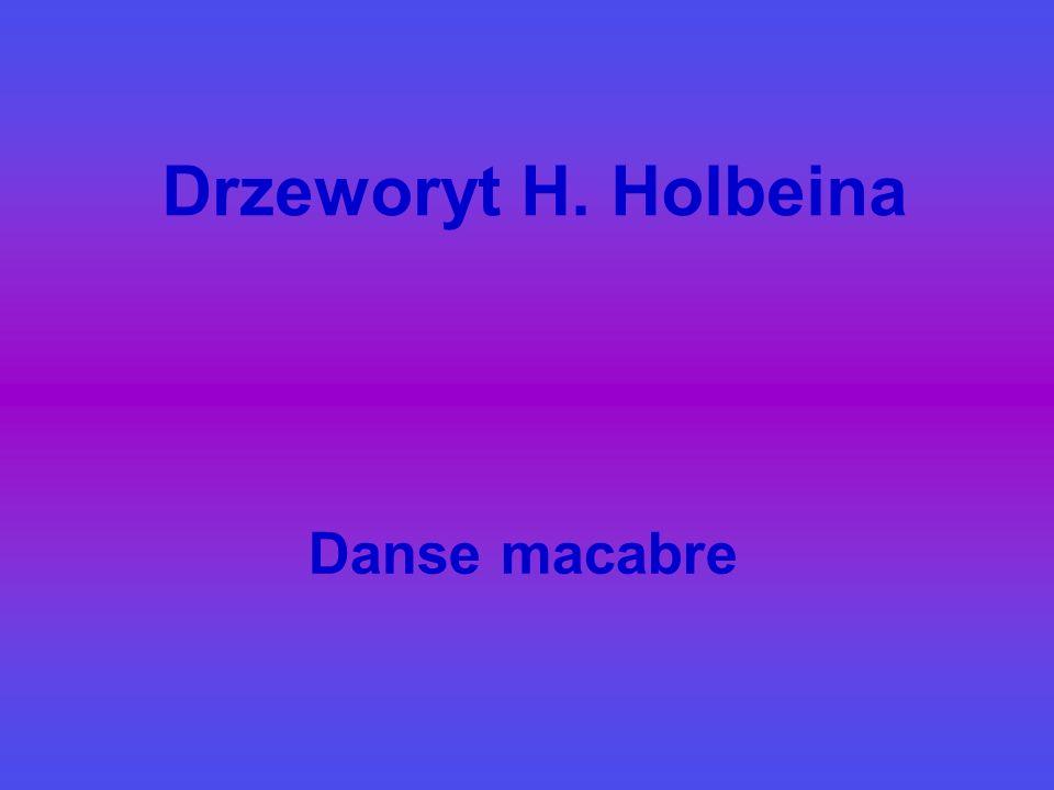 Drzeworyt H. Holbeina Danse macabre