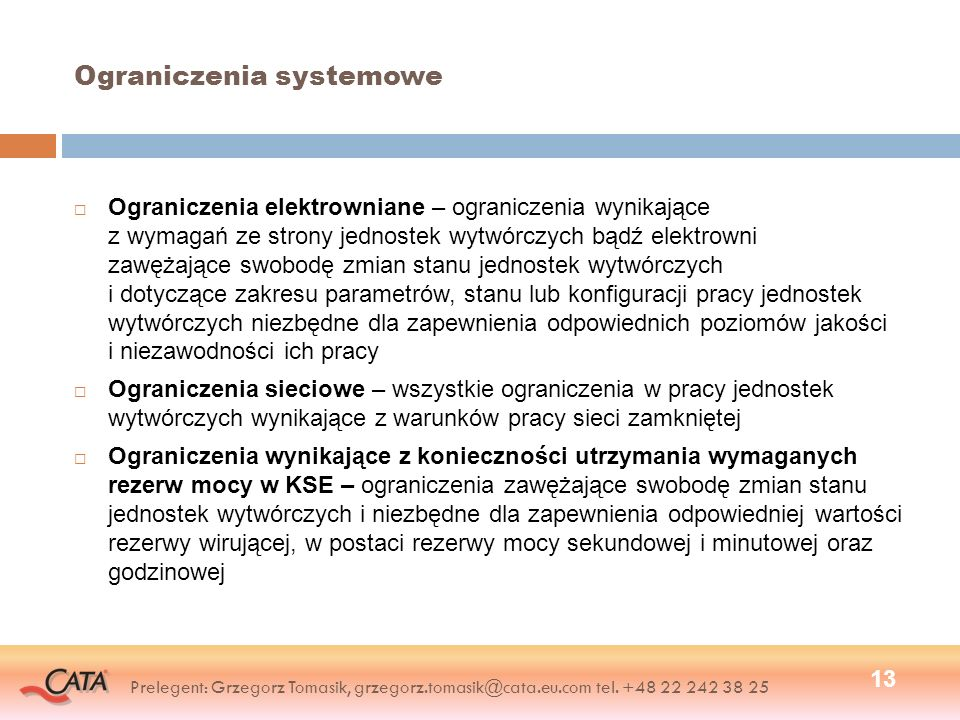 Ograniczenia systemowe