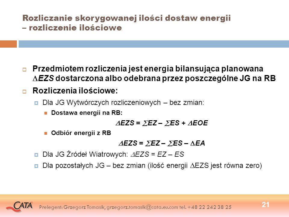 Rozliczanie skorygowanej ilości dostaw energii – rozliczenie ilościowe