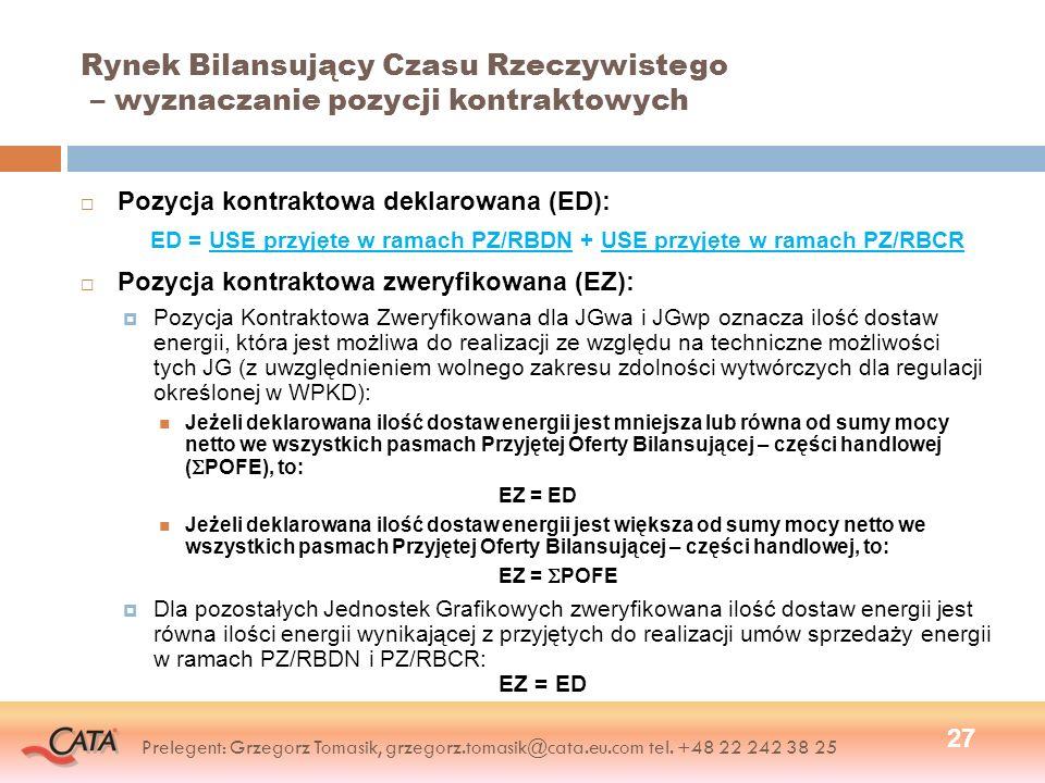 ED = USE przyjęte w ramach PZ/RBDN + USE przyjęte w ramach PZ/RBCR